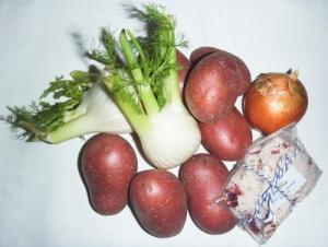 Zutaten für die Fenchel-Kartoffel-Pfanne