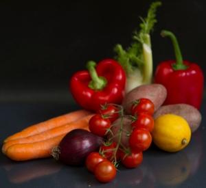 Zutaten für das mediterrane Ofengemüse