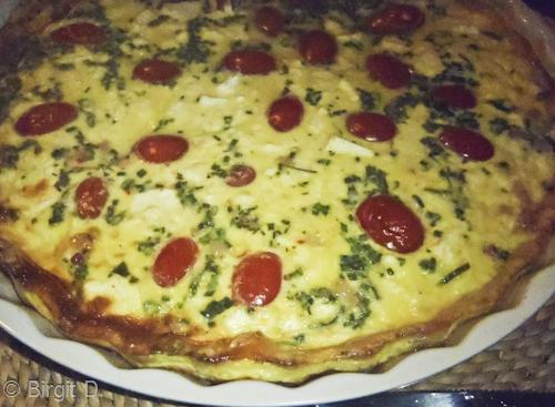 Tomaten-Kräuter-Quiche