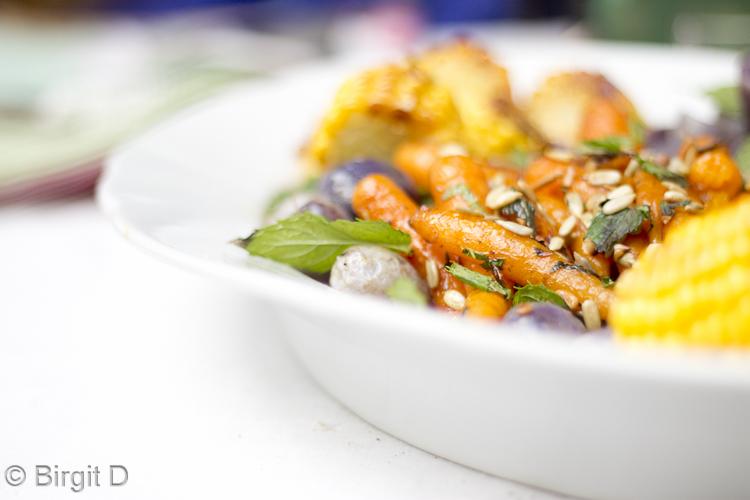 Honig-Möhrchen, Kartoffeln und Mais