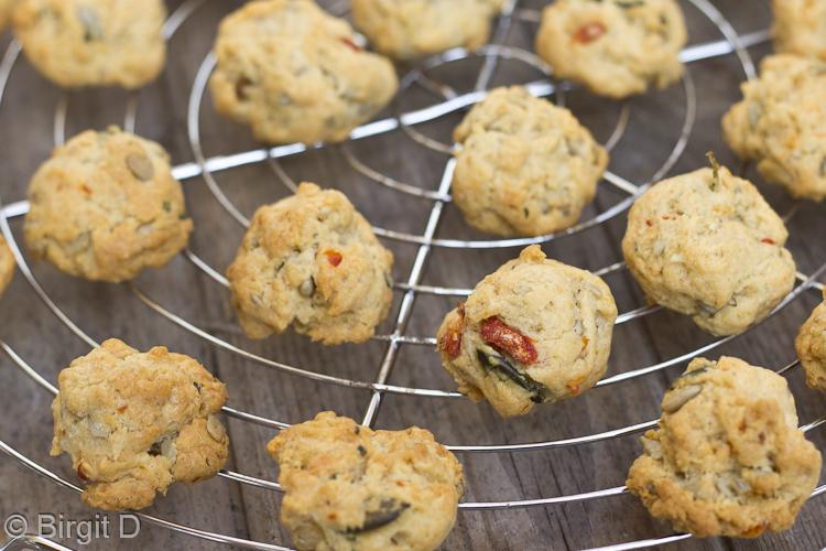 Gebackene Kürbiskern-Parmesan-Cookies