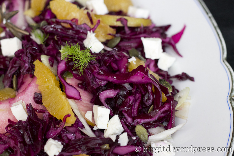 Fenchel-Rotkraut-Salat