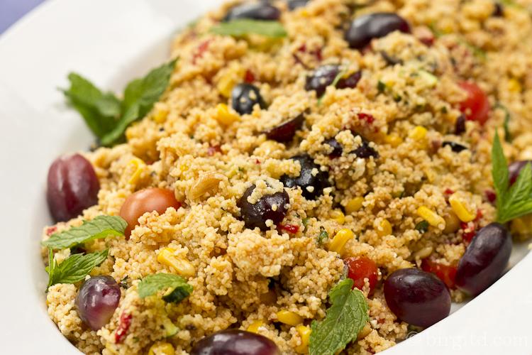 Couscous-Salat mit Trauben