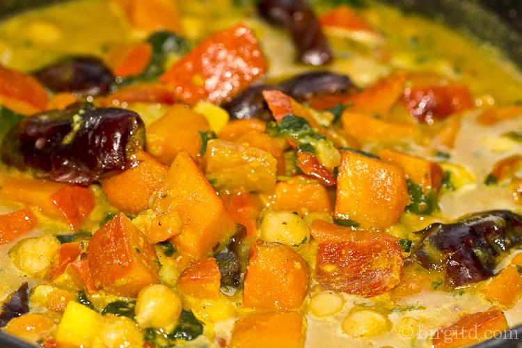 Orientalisches Kübis-Curry mit Kichererbsen